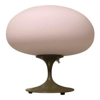 Laurel Stemlite Bill Curry Avocado Green Mushroom Table Lamp For Sale