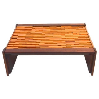 Percival Lafer Mixed Wood Coffee Table For Sale