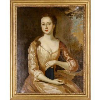 Old English Portrait of an Elegant Woman For Sale