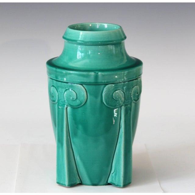 Awaji Pottery Japanese Art Deco Rocket Form Vase For Sale - Image 9 of 11