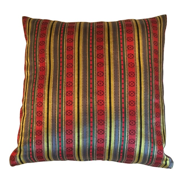 Jewel Tone Silk Pillow from Thailand - Image 1 of 4