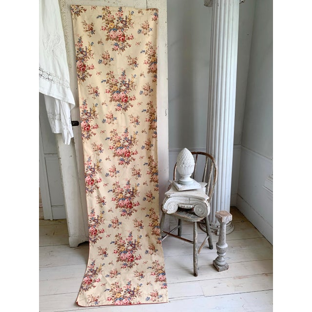Vintage French Shabby Chic Roses Pattern Curtain For Sale - Image 4 of 10