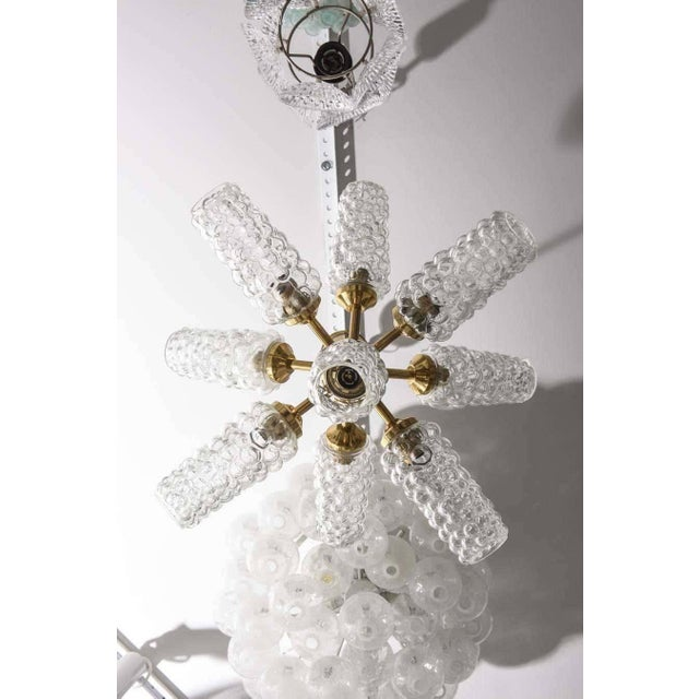 """""""Sputnik"""" Chandelier With Bubble Glass and Brass 1960s For Sale In West Palm - Image 6 of 11"""