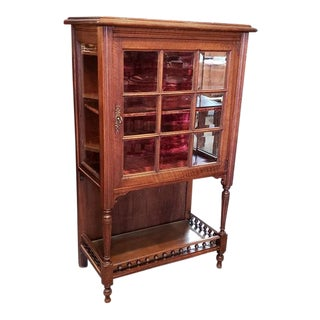 Edwardian Mahogany Display Cabinet C.1915 For Sale