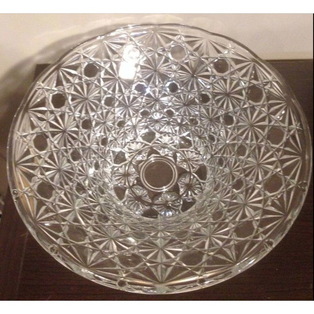 Late 20th Century Vintage Cut Lead Crystal Bowl For Sale - Image 5 of 11