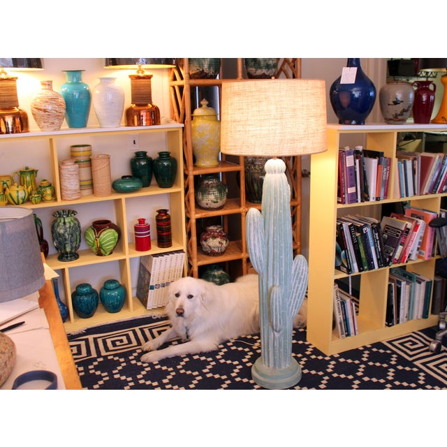 "Awaji Vintage Japanese Studio Pottery Yellow Flambe"" Muscle"" Vase For Sale - Image 9 of 10"