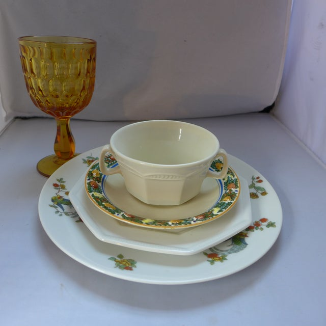 Vintage Mismatched Lunch Setting - 5 Pieces For Sale - Image 5 of 6