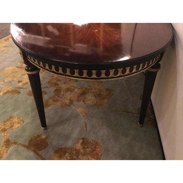 Bronze Louis XVI Style Bronze Mounted Dining Room Table For Sale - Image 7 of 8