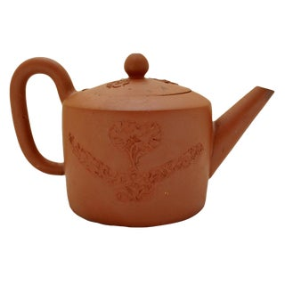 18th Century Rustic Redware Teapot