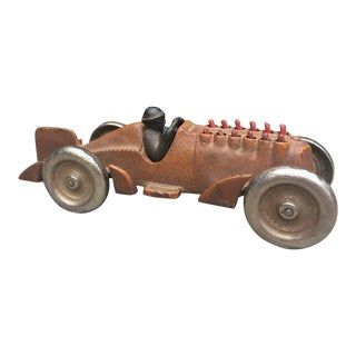 1920s Hubley Cast Iron Hot Rod Toy For Sale