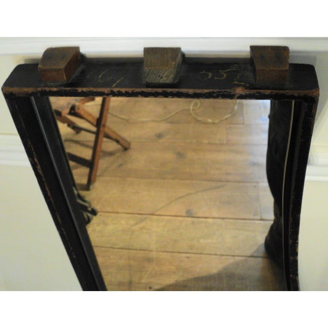 Antique Vintage Industrial Wood Factory Mold Mirrors - A Pair - Image 7 of 11