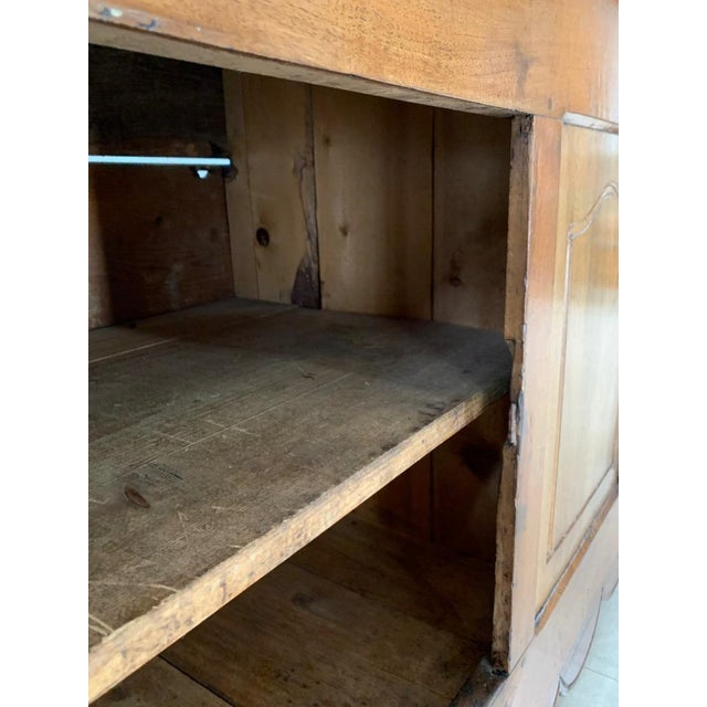Antique Rustic French Walnut Buffet For Sale - Image 10 of 13