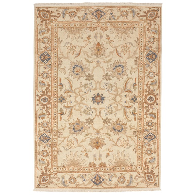 Hand Knotted Chinese Ziegler Rug - 4′ × 6′ For Sale