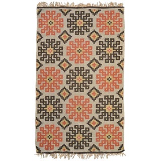 1950s Swedish Snowflake Kilim Rug-3′4″ × 5′6″ For Sale