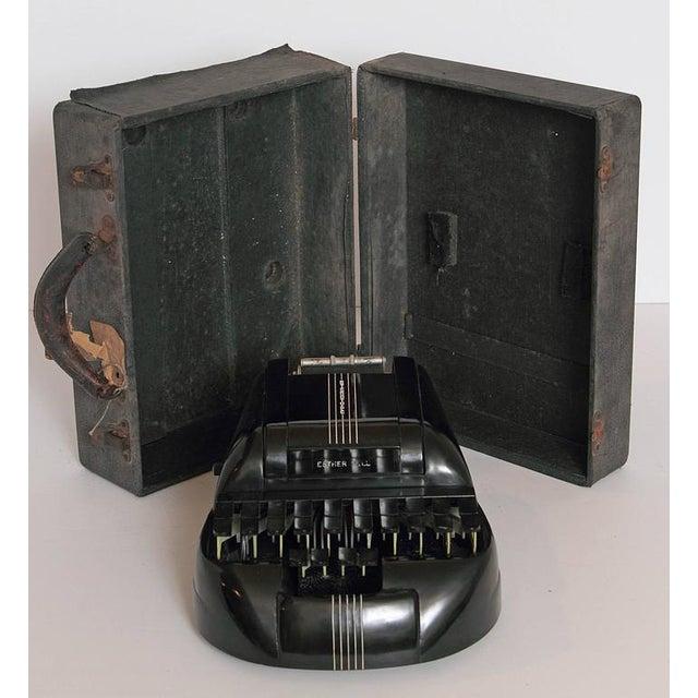 Art Deco Machine Age Art Deco Streamline 1939 Bakelite Stenography Set, William Petzold For Sale - Image 3 of 11