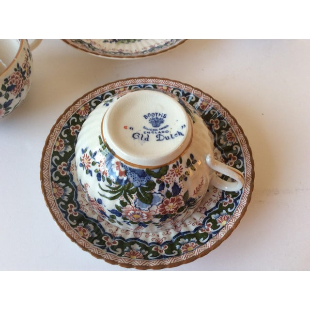 """Booths """"Old Dutch"""" Cup & Saucers - Set of 4 - Image 6 of 11"""