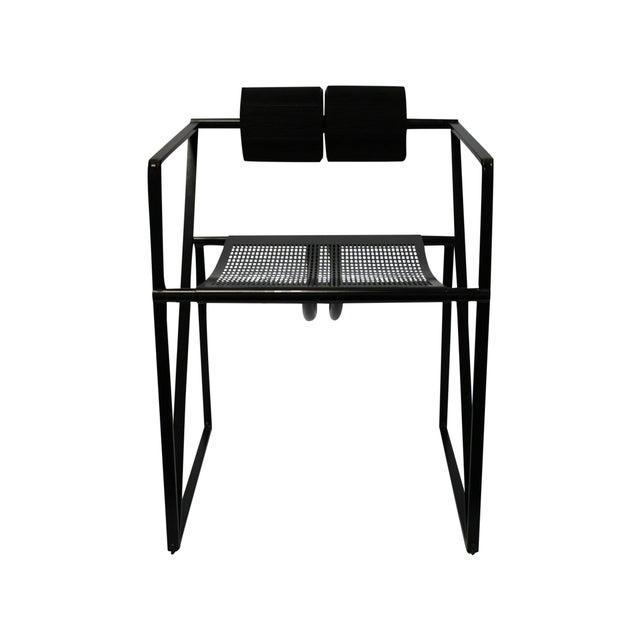 Mario Botta Memphis Postmodern Chairs 80s - S/4 - Image 3 of 4