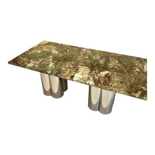 C. Jere Dining Table With Custom Top For Sale