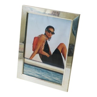Italian Modern Minimalist Silver Picture Frame For Sale