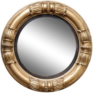 English William IV Convex Mirror For Sale