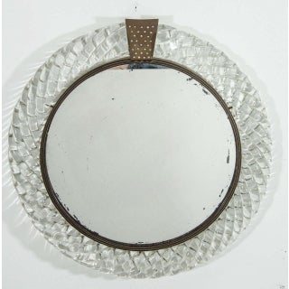 Italian Murano Art Glass and Bronze Wall or Vanity Mirror Preview