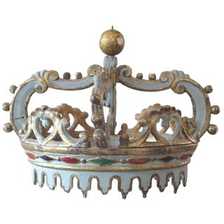 Large Italian Antique Bed Corona For Sale