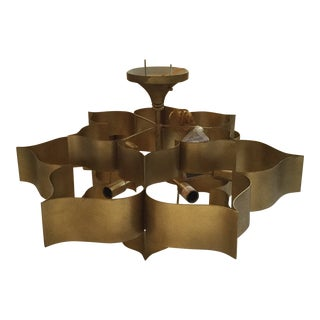 Currey & Company Grand Lotus Chandelier For Sale