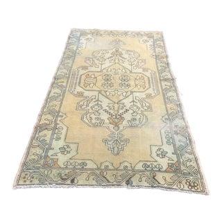 """Antique Handmade Floor Oushak Rug - 4'6"""" x 8'6"""""""