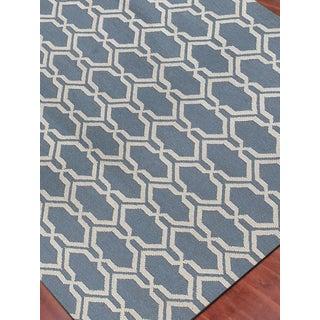 Zara Trellis Blue Flat-Weave Rug 8'x10' Preview