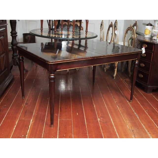 Maison Jansen Mahogany Dining Table For Sale - Image 9 of 10