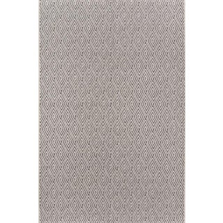 """Erin Gates Downeast Wells Charcoal Machine Made Polypropylene Area Rug 6'7"""" X 9'6"""" For Sale"""