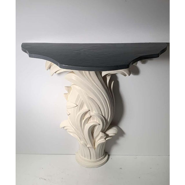 Vintage Plaster Console in manner of Serge Roche For Sale In Chicago - Image 6 of 13