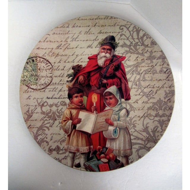Traditional Decorative Christmas Charger Plates-2 Pieces For Sale - Image 3 of 6
