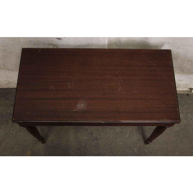 Traditional Vintage Flip Top Storage Table For Sale - Image 3 of 10