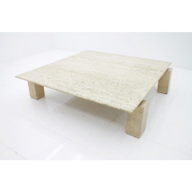 Large Travertine Coffee Table 1960s For Sale - Image 9 of 10