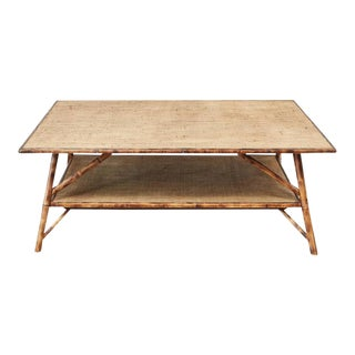 JW Custom Tiger Bamboo Coffee Table For Sale