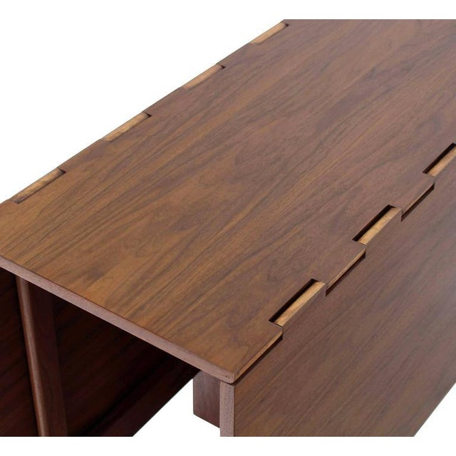 Mid-Century Modern George Nelson Walnut Drop Leaf Dining Table Gate Leg For Sale - Image 3 of 10