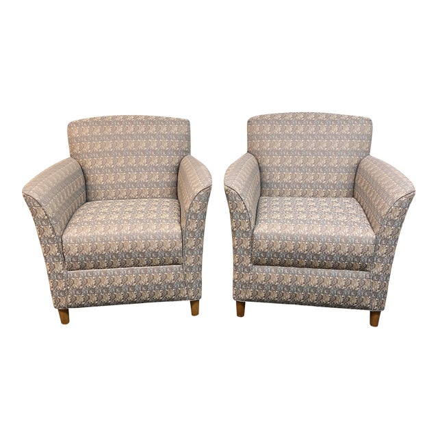 Bernhardt Custom Accent Chairs - a Pair For Sale