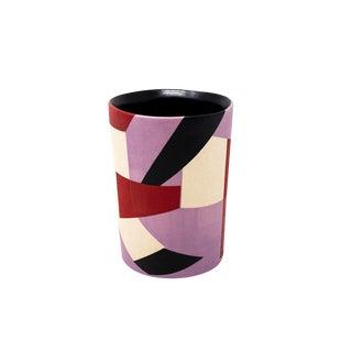 Mid-Century Style Handmade Ceramic Rocks Glass - Purple For Sale