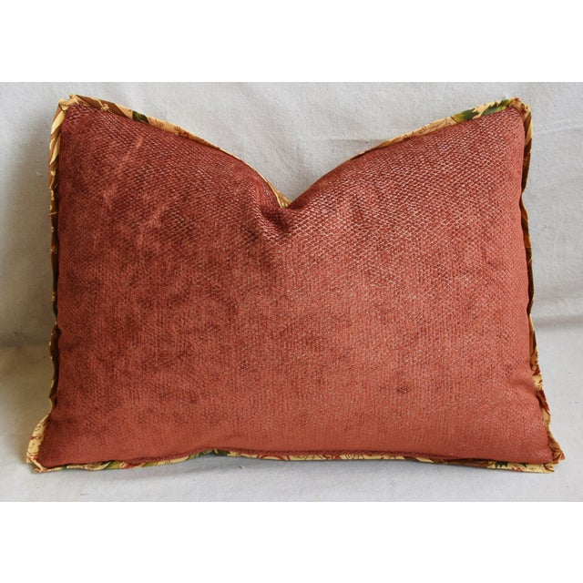 "Designer French Pierre Frey La Riviere Feather/Down Pillow 22"" X 16"" For Sale - Image 4 of 6"