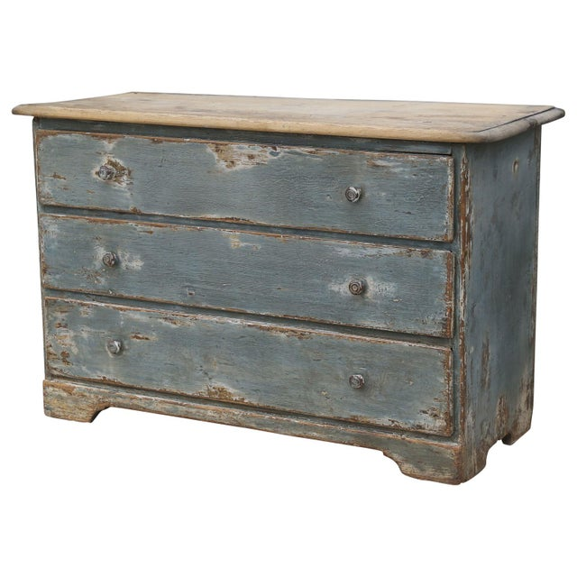 19th Century Painted Three-Drawer Commode For Sale - Image 11 of 11