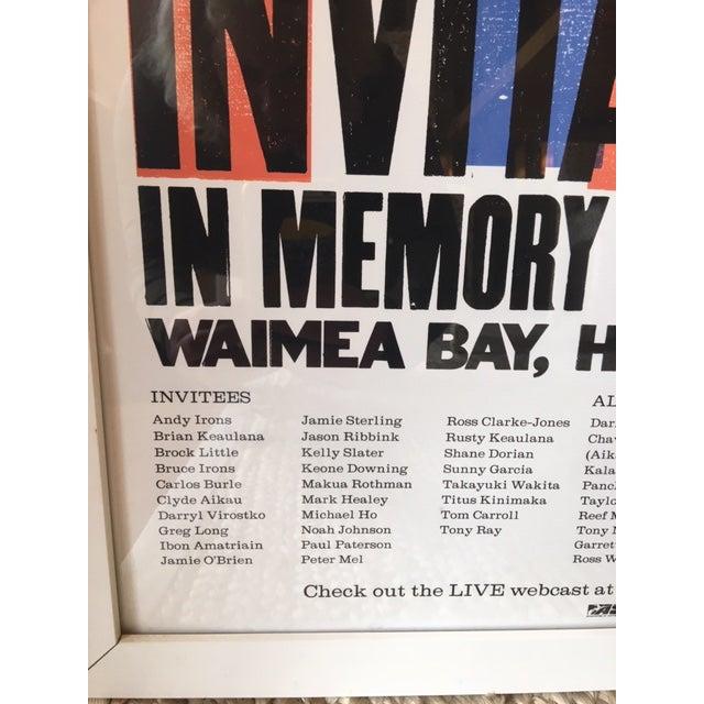 2000 - 2009 Vintage Hawaiian Big Wave Artwork, Framed For Sale - Image 5 of 8