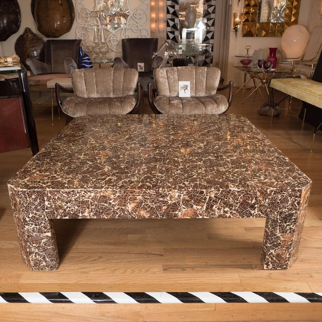 Lacquered coconut shell coffee table by Enrique Garcel.