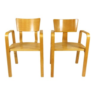 Thonet Bentwood Armchairs - a Pair For Sale