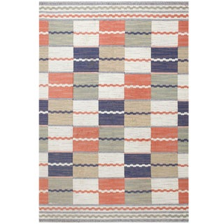 Vintage Swedish Kilim Rug by Marta Maas Fjetterstrom - 6′7″ × 9′9″ For Sale