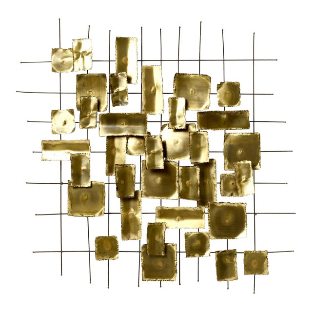 1970's Brass Wall Sculpture - Image 1 of 4