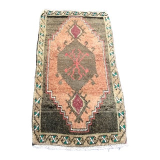 Small Turkish Handmade Wool Decor Rug For Sale
