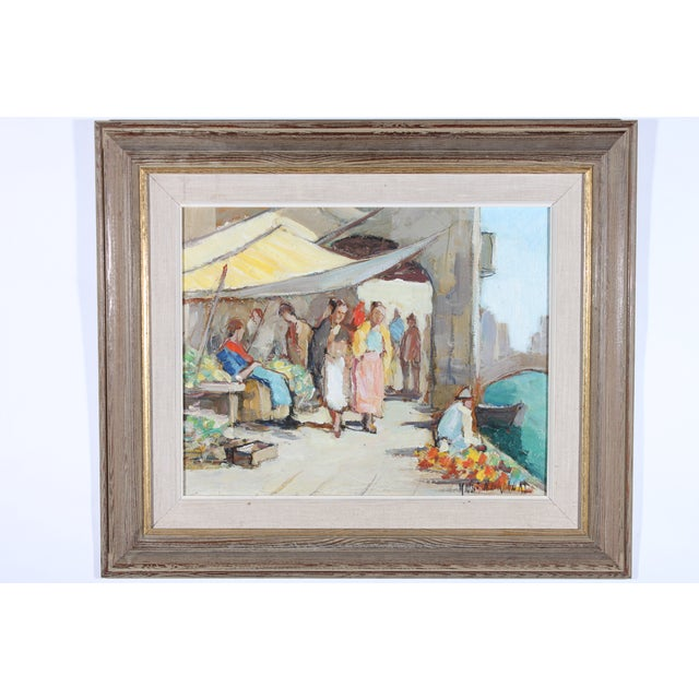 """Knut Norrman """"Venice Impressionist"""" Oil Painting - Image 2 of 3"""