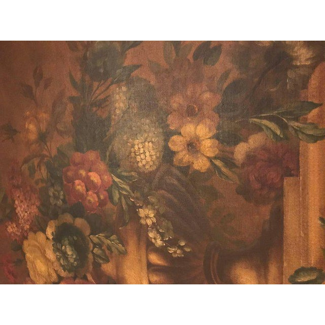 Late 19th Century French Antique Painted And Parcel Gilt Trumeau or Over The Mantel Wall Mirror For Sale - Image 5 of 12