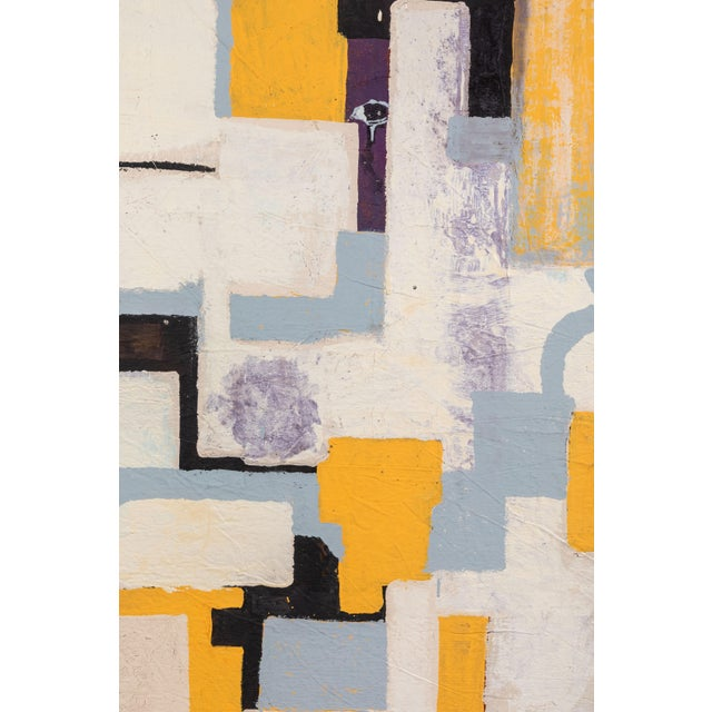 Abstract Gray & Yellow Abstract by Christopher Shoemaker For Sale - Image 3 of 6